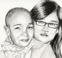 friends charcoal sketch by Granados101