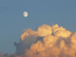 sunset cloud and moon 01 by Nexu4