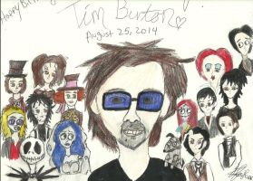 Happy Birthday Tim Burton 2014 by karutimburtonfan