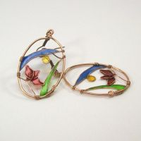 Art Nouveau Earrings by Zsamo
