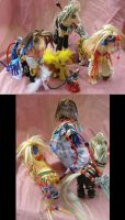 Final Fantasy X-2 YRP complete set by LightningSilver-Mana