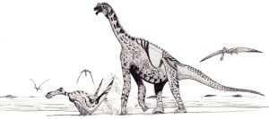 Atlasaurus drawing by palaeozoologist