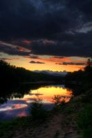 Sunset over Saco River by serenityamidst