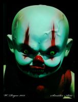 demon clown baby by wroquephotography