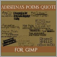 Adeselna's quote GIMP brushes by Adeselna