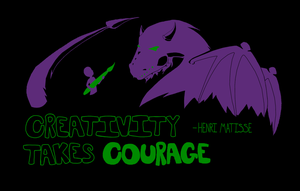Creative Courage by AskAlmostEvil