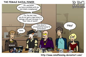 RPG The Female Racial Power by mindflenzing