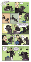 Surprisingly loving dog owner Midosuji by emlan