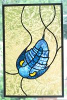 Trilobite Stained Glass Panel by trilobiteglassworks