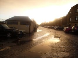 Sunset on Leith by Funyarinpa