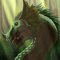 Forest Dragon Original by FleetingEmber