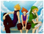 +Heroes' Relax time+ by meru-chan