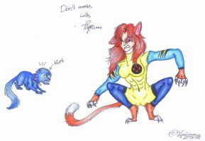 Don't mess with Tigra by TigaLioness