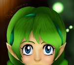 Saria Stares Into Your Soul by Dekumonz