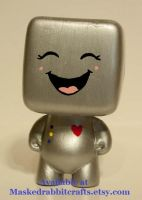 The Laughing HeartBot by maskedrabbitcrafts