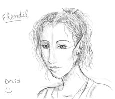 Elendil the Druid, Concept art by Scarecrowlover