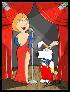 JESSICA AND ROGER RABBIT by DalilaGFX