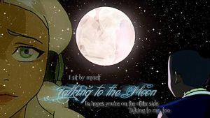 Sokka and Yue - Talking to the Moon by checkers007