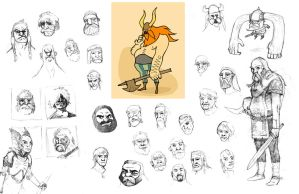 Viking Sketch by peppington