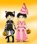 Levi And Eren Halloweenie by Chicken-in-my-pants
