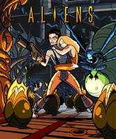 Ripley's in the Hive (rough coloured) by inkjava