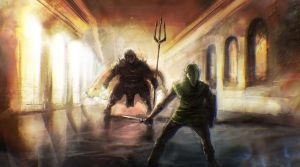Link contre Ganon by Madec-Brice