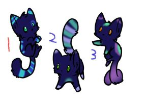 Midnight Kitty Adopts CLOSED by KalineReine