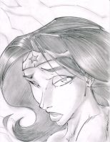 Wonder Woman Sad Sketchshot by StevenSanchez
