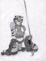 tigress samurai by K-o-v-u