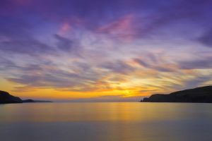 Farr Bay Sunset by derekbeattieimages