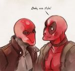 Deadpool and RedHood by XMenouX