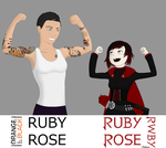 Ruby Rose and Ruby Rose by Frostycone