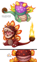 Dino and Fiery Dino Piranhas by Lollergator