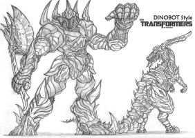 My Transformers Dinobot by NooSem