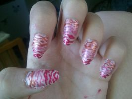 Lovely Tiger Striped Nails. by KashaKiller