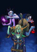 Commish: Undead Badasses by JeyBarnes