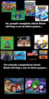 Sonic driving a car collab by MeltingMan234