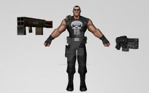 Punisher and Weapons 3DModel (MFF) by Pitermaksimoff