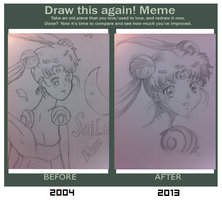 Draw This Again Meme - Sailor Moon by msappy