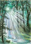ACEO Forest Blessing by robertsloan2