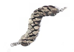 Titanium 3-row Scale Bracelet by SerenFey
