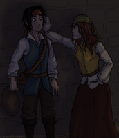 The Young Jack Sparrow and Arabella Smith by Deesney