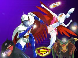 Wallpaper Gatchaman 001 by Rosshiro