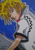 Roxas ACEO card by LadyNin-Chan