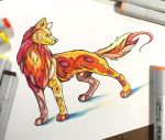 305- Fire Wolf by Lucky978