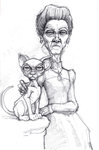 Cat with Lady by Spoonygee