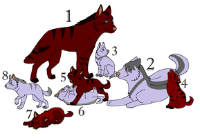 Free Adoptable Wolf Family - Closed by inuyasha1086