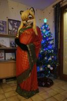 Lisa in a saree for Christmas by Aoi-the-kitsune