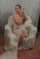 Seated Nouveau Lady 11 by themuseslibrary