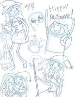 Adventure Time sketch dump_1 by kittykoolkatz
